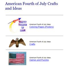 """This is an image from this resource on the Internet4Classrooms' """"Fourth of July at Internet 4 Classrooms"""" resource page:    July 4th Coloring pages.    Crafts, printables, games, and worksheets from DLTK-Kids."""
