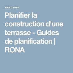 Planifier la construction d'une terrasse - Guides de planification | RONA