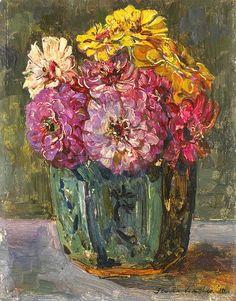 Floris Verster  Still Life With Zinnias   1922