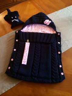 Baby Knitting Patterns Sleeping Bag Ravelry: Project Gallery for Confortable – Trappelzak pattern by Famili Baby Knitting Patterns, Knitting For Kids, Baby Patterns, Knitting Projects, Crochet Projects, Crochet Patterns, Crochet Ideas, Easy Knitting, Knitting Ideas