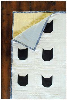 DIY: modern black cat quilt
