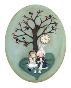Tea Under the Wonderland Tree Print via thepoppytree (etsy)