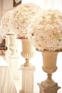FRENCH COLUMNS WITH FLOWERS