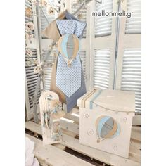 """Set Βάπτισης """"Αερόστατο"""" κύβος Boy Baptism, Christening, Baptism Ideas, Shower Party, Baby Shower Parties, Baby Games For Kids, Vintage Baptism, Hot Air Balloon, Baby Shower Games"""