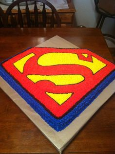 Super man cake for Adrian's 3rd birthday