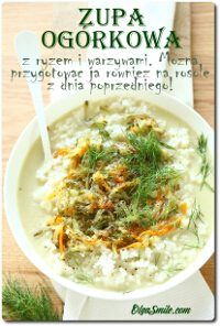 Cucumber soup with rice Japchae, Cucumber, Meat, Chicken, Cooking, Ethnic Recipes, Food, Smile, Kitchen