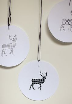 swoon studio: Printable Reindeer Tags + Stickers