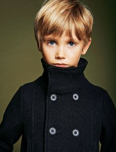 #ArmaniJunior black wool pea coat. Click here to subscribe: www.babyGent.com #bGstyle