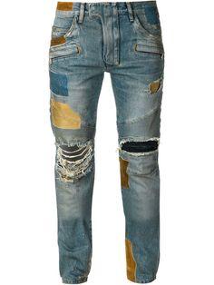 Balmain Jean De Moto Skinny - The Webster - Farfetch.com Mode Homme a17b7b5eb025