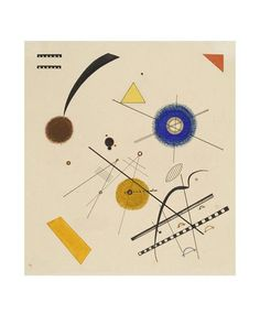 Vasily Kandinsky - Drei Freie Kreise (Three Free Circles) - Art Prints from LACMA