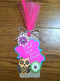 Night Owl Slumber Party Favor - Owl Save Your Spot Bookmark