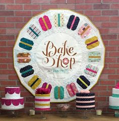 Michael Miller Collection Cotton Quilt SALE ~ By the Yard ~ Bake Shop Sweet Cakes Cinnamon Color ~ Bake Shop by Patty Solinger