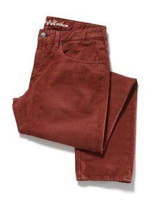 BRUNSWICK OVERDYE JEAN - SLIM - BRICK #MensWear #MensJeans