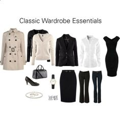 Classic Wardrobe Essentials by katestevens on Polyvore