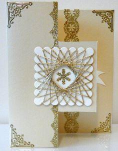 By Tina Burton Gold and cream spirelli  visit My Personal blog: http://stampingwithbibiana.blogspot.com/