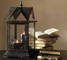 Black House Lantern eclectic candles and candle holders