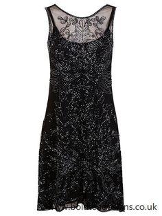 Miss selfridge Blue 90s Neck Bodycon Dress in Blue   Lyst
