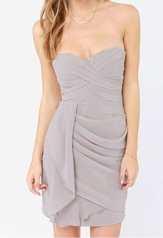 The Fit and Flirt Dress in Gray - Adabelle's