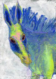 Some Impression - The White Donkey   18cm x 26cm   acrylic gouache on korean paper  http://www.woo-mi.net/