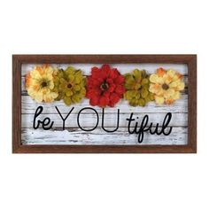A smile is guaranteed every time you look at our Be You Tiful Shadowbox. Adorned with flowers, this shadowbox encourages your to embrace your eclectic style! Flower Shadow Box, Diy Shadow Box, Diy Framed Wall Art, Sorority Crafts, Diy Projects To Try, Craft Fairs, Diy Wedding, Diy Crafts, Craft Ideas