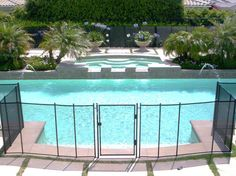 Pool safety fencing option: Pool Fences, Removable Pool Fences by All-Safe