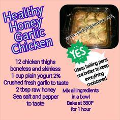 21 day fix friendly Chinese inspired honey and garlic chicken!  Yummy to Yucky