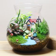 Details about DIY Figurine Craft Plant Pot Garden Ornament Miniature Fairy Garden Decor Hot Details about DIY Figurine Craft Plant Pot Garden Ornament Miniature Fairy Ga. Terrarium Scene, Terrarium Plants, Succulent Terrarium, Plant Pots, Fairy Terrarium, Terrarium Wedding, Indoor Fairy Gardens, Mini Fairy Garden, Miniature Fairy Gardens