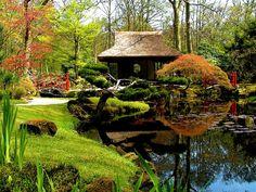 beautiful meditation gardens on a hill
