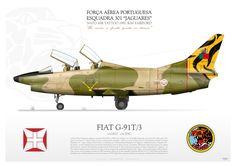 "G-91T/3 PAF LB-10   da Força Aérea Portuguesa, Esquadra 301 ""Jaguares"" NATO AIR TATTOO 1991. RAF Fairford Military Jets, Military Aircraft, Fighter Aircraft, Fighter Jets, Airplane Drawing, Air Tattoo, Drones, War Thunder, Nose Art"