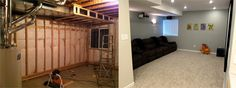 Framing your basement home theater with a projector and Pioneer in-wall speakers is no small task. View the before and after pictures and get tips here!