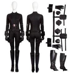 Cosplay Costume Black Widow Cosplay Civil War Costume - Try XXX Black Widow Cosplay Civil War Costume Version simcosplay and become the most fascinating Black Widow in Halloween. Spy Outfit, Badass Outfit, Outfit Ideas, Marvel Inspired Outfits, Movie Inspired Outfits, Black Widow Cosplay, Diy Black Widow Costume, Black Widow Aesthetic, Halloween Costumes To Make