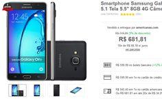 "Smartphone Samsung Galaxy On 7 Dual Chip Android 5.1 Tela 5.5"" 8GB 4G Câmera 13MP << R$ 59999 >>"