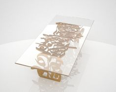 Calligraphy-inspired table.
