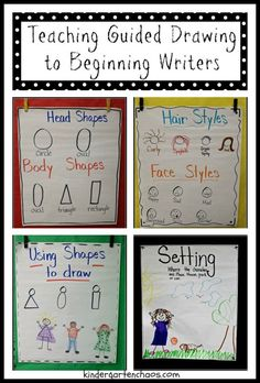 Drawing People Teaching Guided Drawing to Beginning Writers - How do you teach writing to Kindergartners? I am sharing some tips on Teaching Guided Drawing to Beginning Writers. Drawing is an important skill! Kindergarten Anchor Charts, Writing Anchor Charts, 1st Grade Writing, Work On Writing, Writing Centers, Writing Ideas, Writing Center Kindergarten, Opinion Writing, Pre Writing