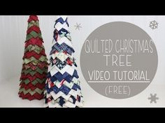 Quilted Christmas Tree Tutorial (No Sew) | Fabric Tree - YouTube
