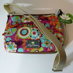 Lily Bloom bags and purses are made from recycled 2 liter plastic bottles. Come in tons of bright prints and solids too.