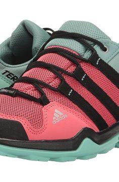 c5e38d04fd0a adidas Outdoor Kids Terrex CP (Little Kid Big Kid) (Tactile Pink Black Easy  Green) Girls Shoes