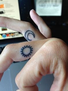moon + sun tattoo