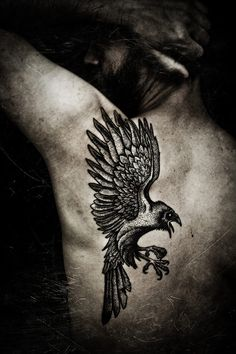 Raven tattoo, would have different placement but sweet art