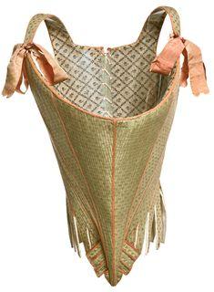 Taffeta corset, French c1770-1780. Musée de la Mode et du Textile