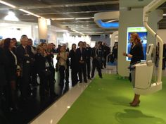 Excellent presentations at the FlowSens corner on the Guerbet booth, every hour.
