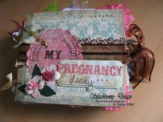 I just love this idea for a Mom to Be!! Shabby shic Pregnancy Journal to record your precious pregnancy journey.