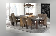 Esstisch- Set Konferenztisch Partytisch,,Rio Quadrado,, 2x 140x140cm + Konsole