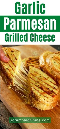 This grilled cheese sandwich is going to quickly become your absolute favorite! It's SUPER easy to make and the topping stores really well! Prepare the topping ahead of time and whip this up in 5 minutes! The kids are going to LOVE this! Easy Sandwich Recipes, Sandwich Fillings, Snack Recipes, Cooking Recipes, Parmesan Crusted, Garlic Parmesan, Best Grilled Cheese, Herb Bread, Delicious Sandwiches