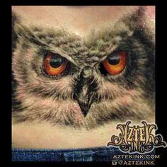 ccb973055 owl tattoo by Carlos Ortiz Aztek Ink tattoo studio blue island, Illinois  Chicago south suburbs