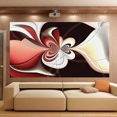 Abstrakcyjna fototapeta z czekoladowym ornamentem - idealna ozdoba nowoczesnego salonu.