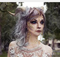 Gold Flaked Demon Horns by LunaLeFeyOnline on Etsy https://www.etsy.com/listing/248610269/gold-flaked-demon-horns