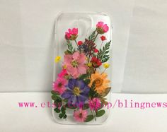 Unique Pressed flower colorful flower Dried iphone 4s cases iphone 5s iphone 5c Samsung galaxy s5 galaxy note 3 samsung s4 s3 s5 mini case