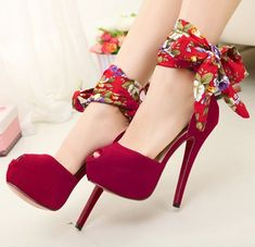 fashion models in red shoes | free shipping platform pumps sexy red bottom high heels girls