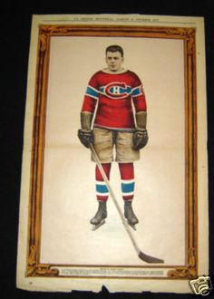 January 14th 1928 La Presse Arthur Gagne Montreal Canadiens Hockey Premium  Photo Montreal Canadiens a9a1abfde